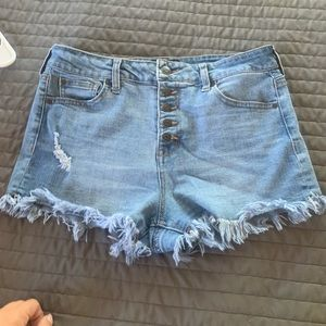 Celebrity pink cut off shorts size 9